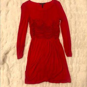 BCBG romantic red dress! Gorgeous color & draping